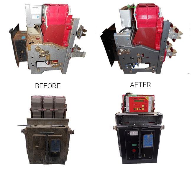 breaker repair before and after